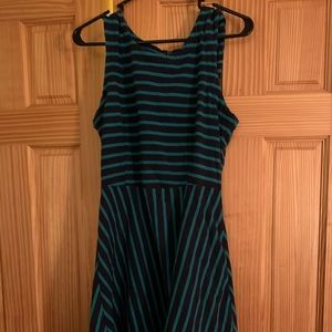 Medium black and blue striped dress